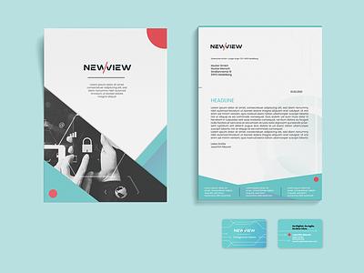 Business Paper und Visitenkarten für Go New View branding ui graphic design illustrator printdesign mannheim heidelberg design