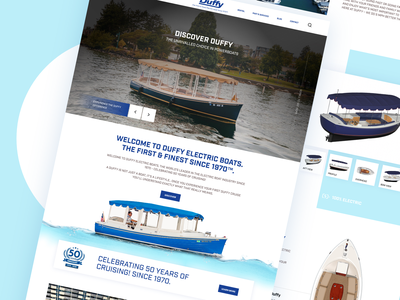 Electric Boat ui branding dribbble. web illustration goa landing page lan