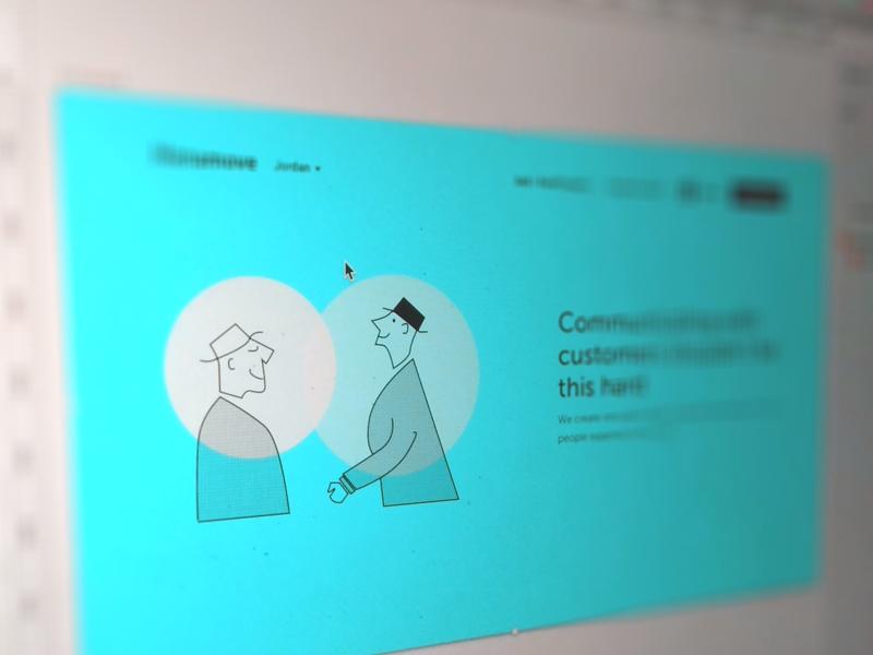 Vintage Community Concept Design mac website community landing page