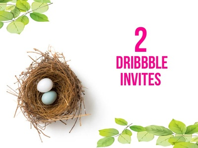 2 Dribbble Invites June 2018