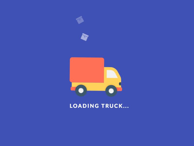 Codepen Loading Truck by amit adav on Dribbble