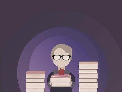 Knowledge To Serve illustrations apps school landing page kids school dribbble