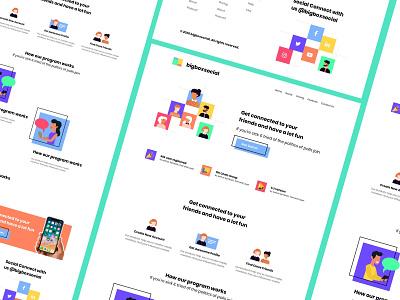 bigboxsocial animation android illustation web design marketing social landing page
