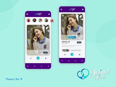 Dating Web App UI Design love dating dating app top design userinterface mobile ui app ui app design mobile app trends 2021 trending dribbble 2020 design trends designer ui uidesign ui design minimal design