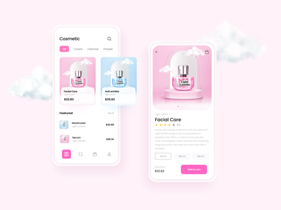 Beauty products online Shopping app UI design app ux  ui uxui ux design uxdesign ux dailyui uiux ui  ux graphic design user interface app design mobile ui uidesign top design design trends ui design design ui
