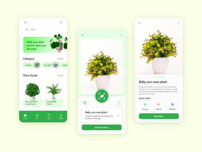 Plant Care Mobile App Design Concept ux dribbble 2021 latest design designtrends daily 100 challenge dailyuichallenge ui design challenge ui designer ui  ux design ui  ux app ui mobile ui daily ui dailyui dribbble 2020 uiux design trends ui design uidesign ui