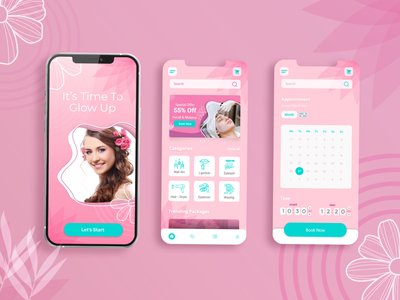 Beauty Parlour appointment app Ui xd adobe xd download free download design template free ui free mobile templates free ui kit freebie mobile template app design template app template template free template free app ui mobile app design app design mobile ui ui