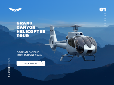 HeliTours promo website ux ui web design