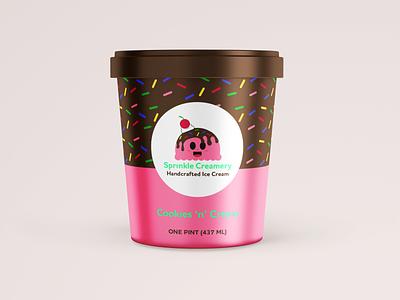 Sprinkle Creamery weeklywarmup logo branding design