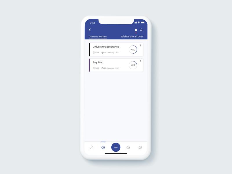 wish app design ui