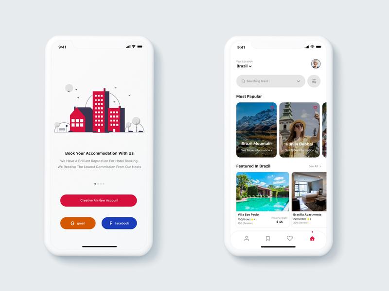 villa booking app villabooking designwich app design ui