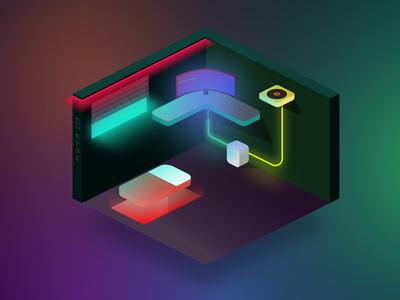 3 isometric illustration design