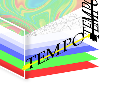 tempo luxus abstract white red green luxus tempo