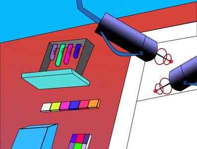 lab lab illustration