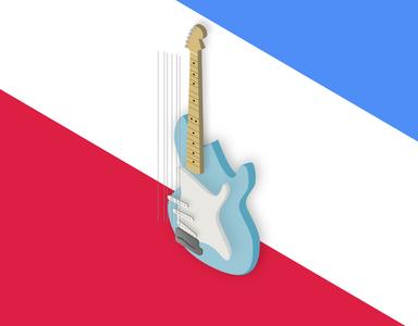 guitar stratocaster guitar isometric illustration