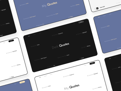 Quotes web landing page adobexd quote web design