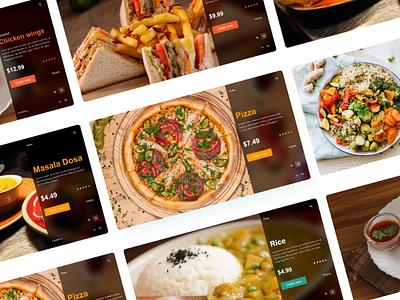 Food webdesign food dribble concept