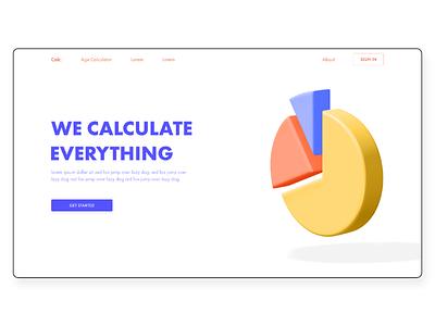 online calculator 3d webdesign concept modern