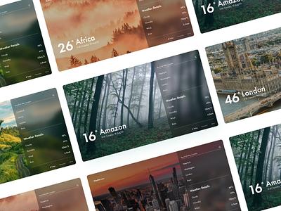 Online weather web concept ui ux uiux webdesign modern
