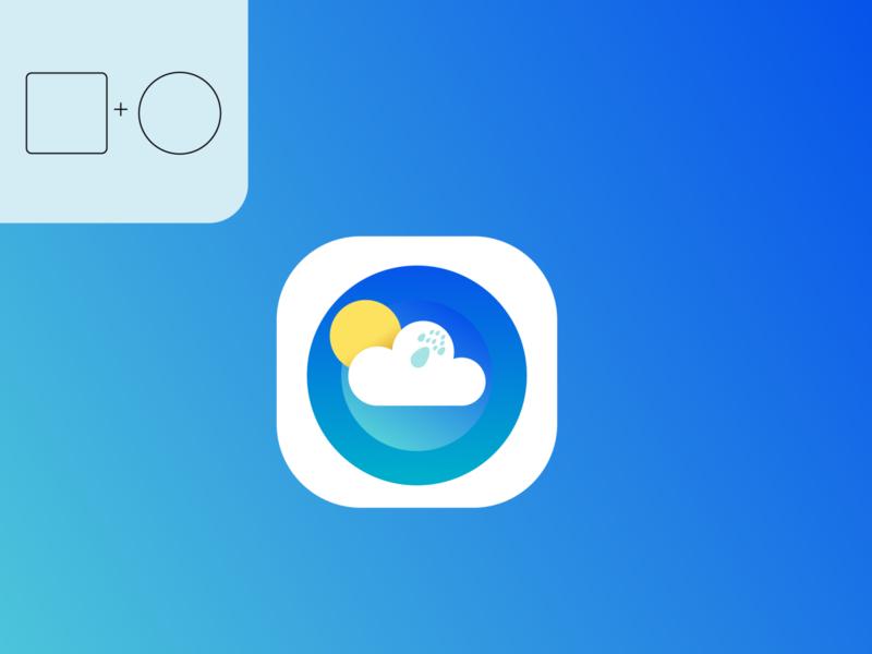 Weather icon logo design minimal business vector logo illustrator illustration design branding app icon