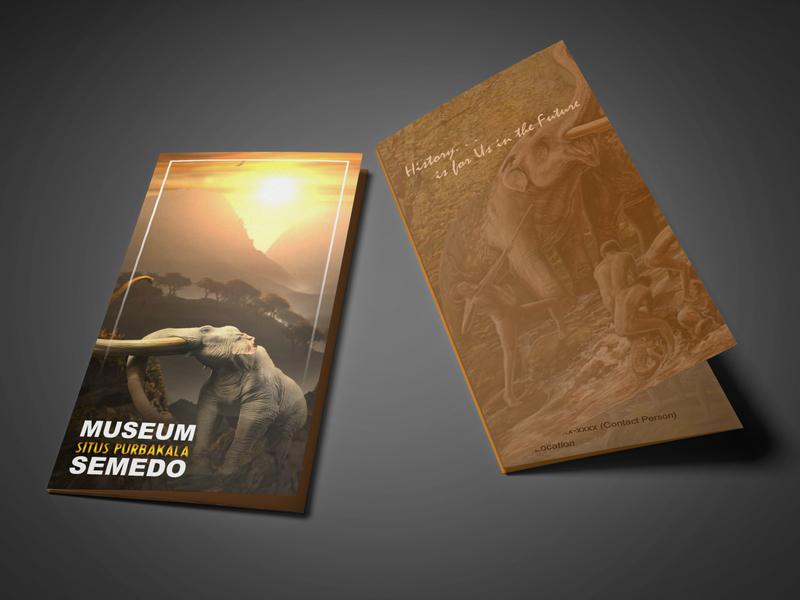 Trifold Museum Brochure branding template design mammoth historic museum design leaflet design flyer design brochure trifold brochure