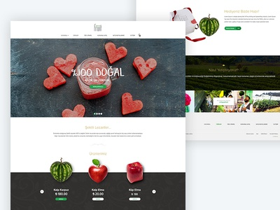 Shaped Fruits - Ecommerce Design