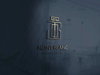 Mont Blanc 3D mockup version 3d graphics logo design