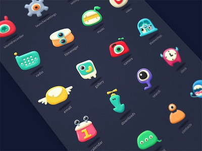 Monsters motifs,charater,cute,monster