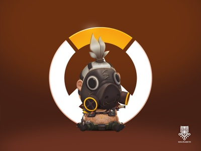 ROADHOG overwatch game character illustration