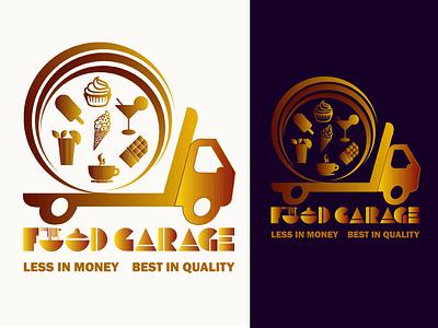 food garage logo branding drawing typography nameplate logo icon