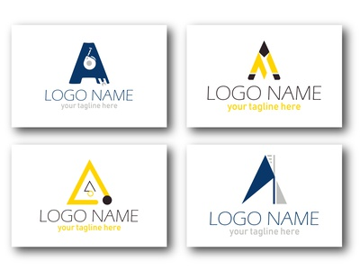 A LETTER ICONS branding ui illustration drawing typography nameplate logo icon art design