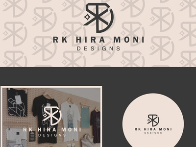 RK HIRA MONI brand ui branding illustration drawing typography nameplate logo icon art design