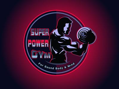 Gym logo branding ui illustration drawing typography nameplate logo icon art design