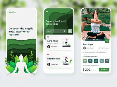 Yoga App designs psychology app ui userinterface mobile app design yoga pose mobile app lifestyle meditate clean ui design meditation app meditation yoga app yoga uiux app ui design uidesign