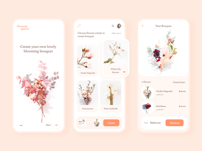 Flower Bouquet app clean design app ui mobile ui uiux mobile app design app ui design uidesign flowers floris bouquet app flower bouquet flower minimal clean ui