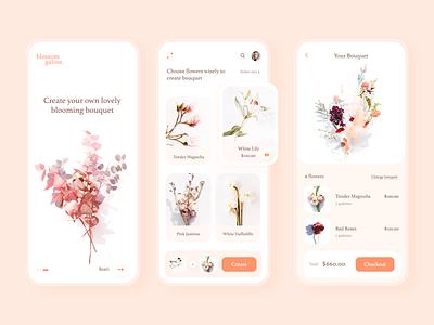 Flower Bouquet app clean design app ui mobile ui uiux mobile app design app ui design uidesign flowers floris bouquet app flower bouquet flower minimal clean ui