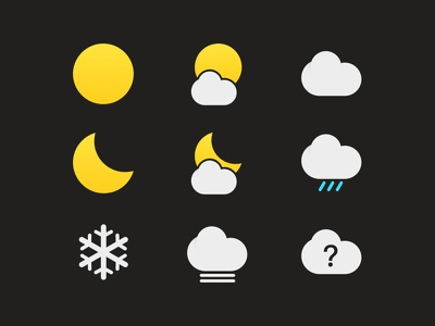 Weather icons for Hola Launcher wind weather sun snow rain moon lightning icons icon fog drizzle cloud
