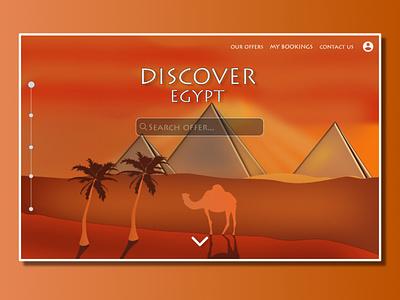 Discover Egypt illustration app web egypt wireframe design uidesign ui