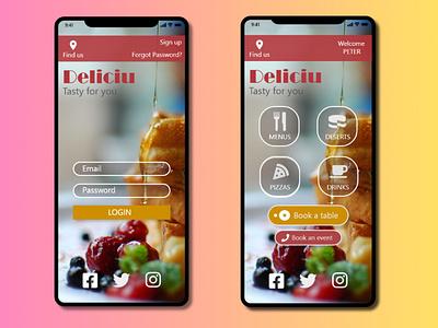 Restaurant  Wireframe | Mobile version restaurant app restaurant website design illustration vector wireframe design web uidesign ui app