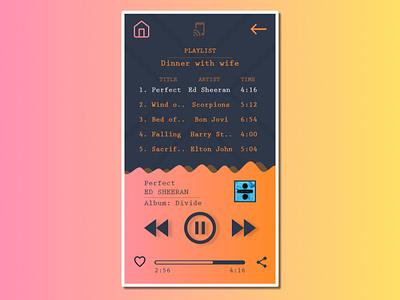 Music App player musicapp music design ux wireframe design illustration uidesign ui app