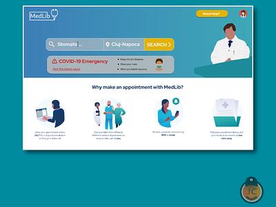 Consultation Med App doctor consultation medicine medical logo vector uidesign ui illustration app