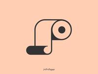 J + P + Paper Logo Design