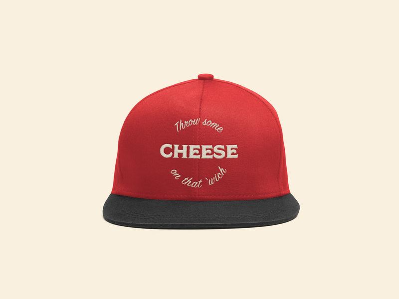 Yam Hat Front restaurant hat vector typography type logo icon design branding app