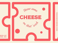 Yam & Cheese Slice restaurant flat vector typography type logo icon design branding