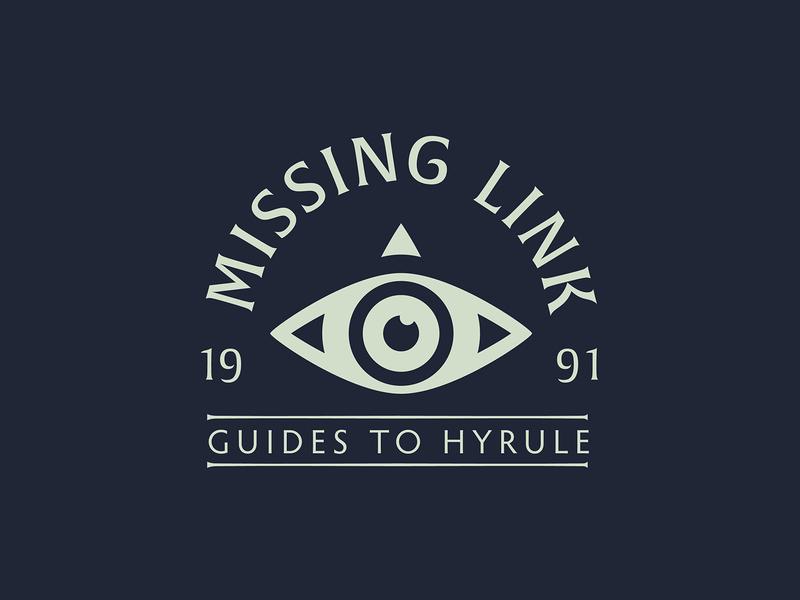 Missing Link Arch zelda app vector typography type logo icon design branding