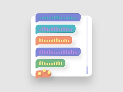 Do you like voices? 😂 message audio voices web colorful 3d vector interface set illustration ui kapustin app