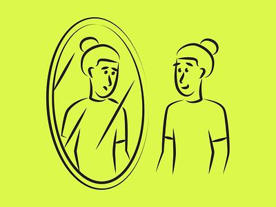 Mental Health Illustrations mirror psychology health mental pack resources design vector set illustration kapustin
