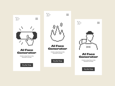 Drag & Drop Illustrations in Use generator face interface app ui art pixel resources design pack set illustration kapustin