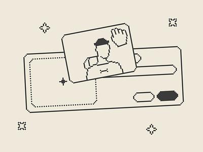 Drag & Drop Illustrations art pixel drop drag resources pack design set illustration kapustin