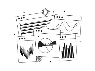 Tokyo Illustrations 🇯🇵 interfaces black  white linear outline pack design vector set illustration kapustin